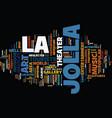 la jolla entertainment text background word cloud vector image vector image