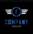 letter f automotive creative business logo vector image vector image