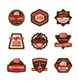 Meat Emblems Set vector image