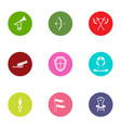 medieval period icons set flat style vector image vector image