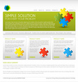 Modern web page template vector image vector image