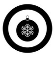 new year ball toy christmas ball or xmas bauble vector image vector image