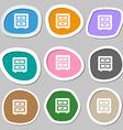 Nightstand icon symbols Multicolored paper vector image
