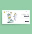 olympic gods landing page template poseidon vector image