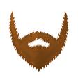 One Big Brown Beard vector image vector image