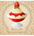 Panna cotta badge vector image vector image