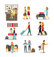 people in the airport passing vector image vector image