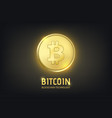 realistic crypto currency golden coin vector image