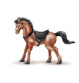 realistic horse toy doll with black saddle vector image
