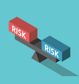 risks weighing concept balance vector image vector image