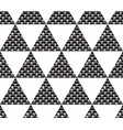 seamless pattern with black and white triangles vector image