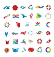 set abstract icons vector image