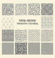 set hand drawn marker and ink patterns vector image vector image