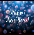 shiny happy new year with holiday background 2018 vector image vector image