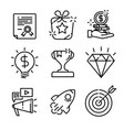 simple set marketing related line icons vector image