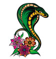snake tattoo style vector image vector image