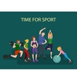 Sports and Fitness People Healthy family vector image vector image