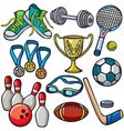 Sports equipment icon set vector image vector image