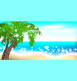 summer time seashore palm landscape vector image vector image