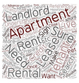 The Apartment Search text background wordcloud vector image vector image