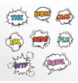 thx plz wtf lol rotfl wow win omg comic speech vector image vector image