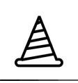 traffic cone icon design vector image vector image