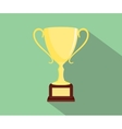 trophy flat isolated with green background and vector image vector image