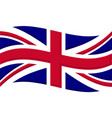 union jack flag graphic vector image vector image