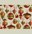 vintage christmas ornaments decoration pattern vector image