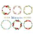 watercolor wreathes vector image vector image