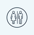 wc sign restroom icon toilet bathroom male and vector image