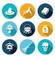 Witch Icons Set vector image vector image