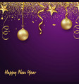 with new design new year on a violet vector image vector image