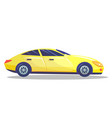 yellow car template on white background vector image vector image