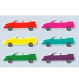 set of colorful sport cabriolet vector image