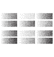 Halftone blocks set background vector image
