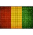 Abstract Mosaic Flag of Guinea vector image vector image