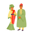 african costume vector image