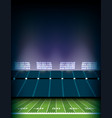 american football field stadium background vector image vector image