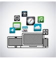 app store technology icons vector image vector image