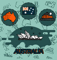 australia flat concept icons vector image vector image