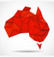 australia map in geometric polygonal style vector image