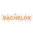 bachelor icons for education graphic design vector image