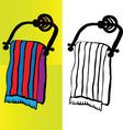bath towel vector vector image vector image