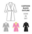 bathrobe icon of for web and vector image vector image