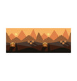 beautiful mountain landscape ith houses sunset or vector image