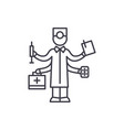 best doctor line icon concept best doctor vector image vector image