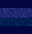 binary code blue digits on the computer screen vector image vector image