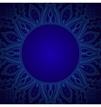 Blue Background with Lace Ornament vector image vector image