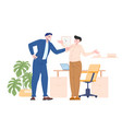 boss bullying to their employee vector image